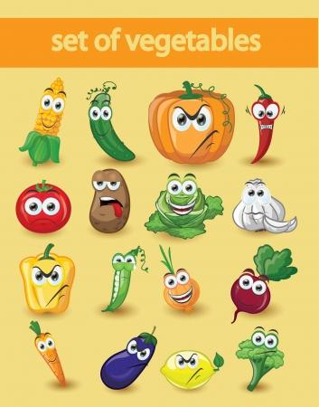 cartoon vegetable: Cartoon vegetables