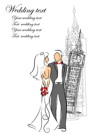closeness: Wedding invitation,vector background  Illustration