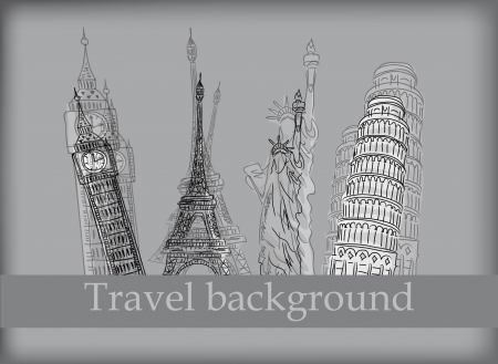 travel collage: Travel background