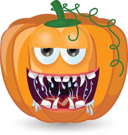 Cartoon pumpkin for halloween  Stock Vector - 25040980