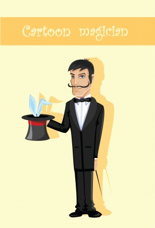 Cartoon character- magician  Vector