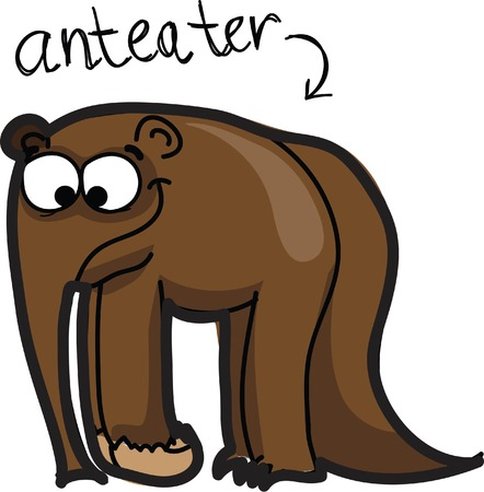 anteater: Cartoon cute anteater