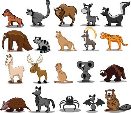 Set of 20 cute cartoon animals Stock Vector - 25781157