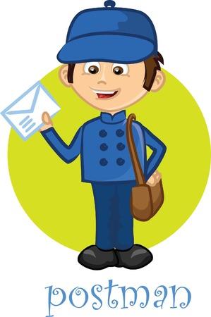 Cartoon character-postman  Vector
