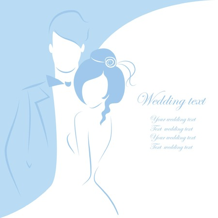 bridal bouquet: Silhouette of bride and groom, background