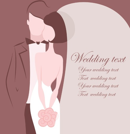 fellow: Silhouette of bride and groom