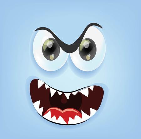 Cartoon angry face  Vector