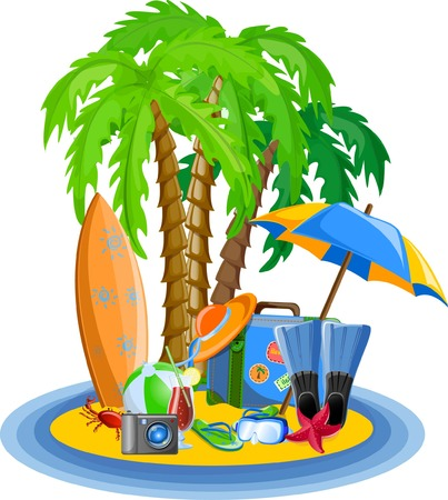 spanking: Vacation vector background