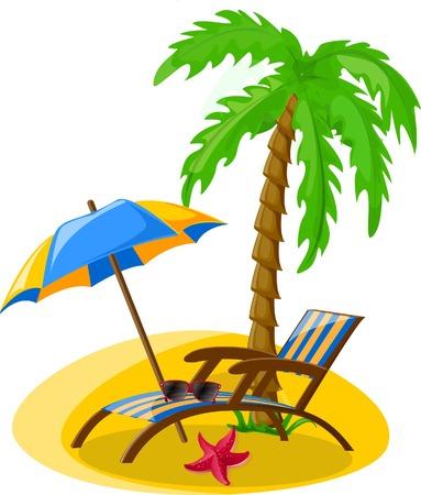 spanking: Vacation and travel background Illustration