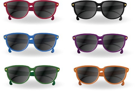 Travel cartoon sunglasses  Vector