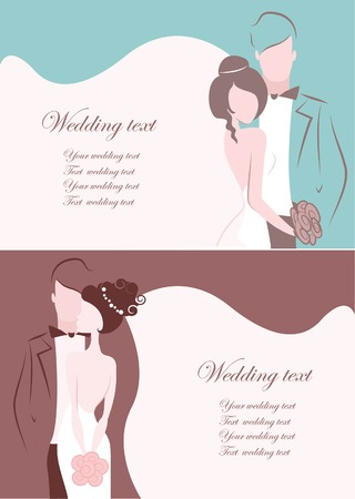 closeness: Silhouette of bride and groom