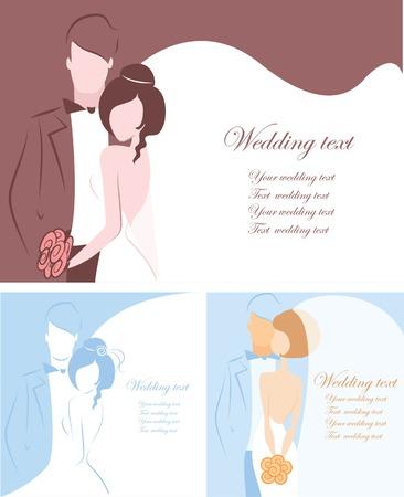 bride groom silhouette: Silhouette of bride and groom