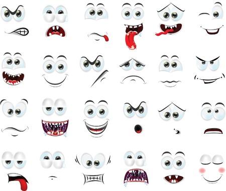Cartoon faces d'émotions Banque d'images - 28600519