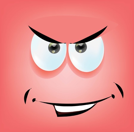 shapes cartoon: Cartoon funny face  Illustration