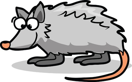 opossum: Cute cartoon opossum