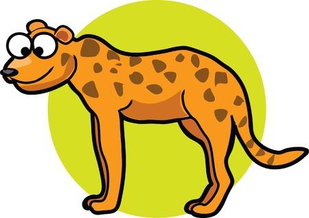 cartoon jaguar: Set of cute cartoon jaguar