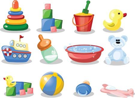 Vector illustration of nursery accessories  Vector