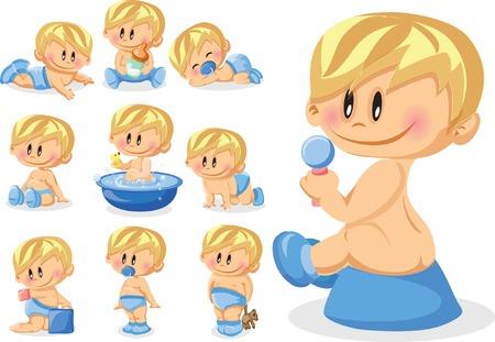 illustration of baby boys