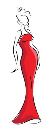 Set of cartoon fashionable woman Vector