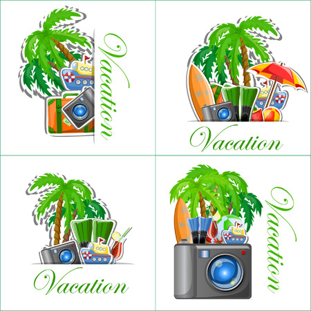 spanking: Vacation and travel background, vector illustration