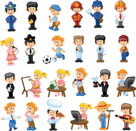 Cartoon characters of different professions Banco de Imagens - 31856093