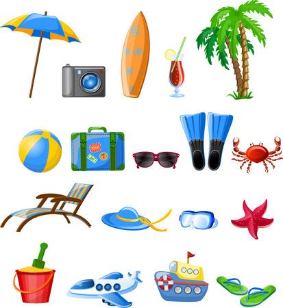Reizen iconen
