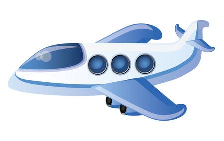 avion caricatura: Plano de dibujo animado