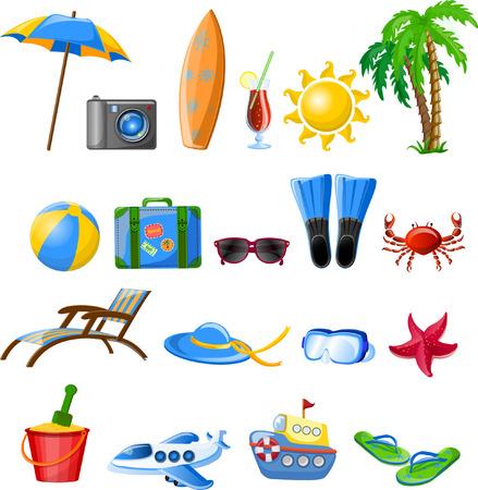 Iconos de viajes Foto de archivo - 33974085