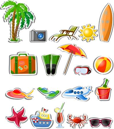 flippers: Travel vector icons Illustration