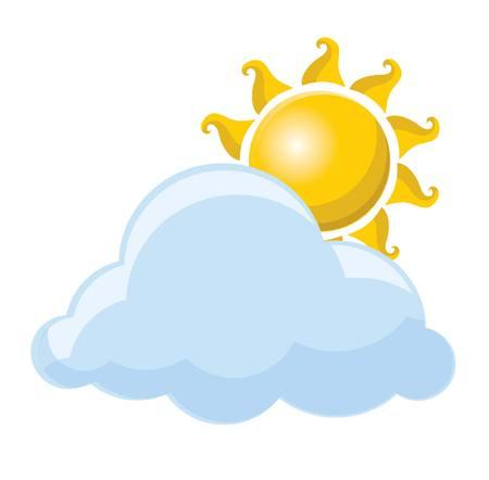 Weather icon - sun and cloud 版權商用圖片 - 34296989