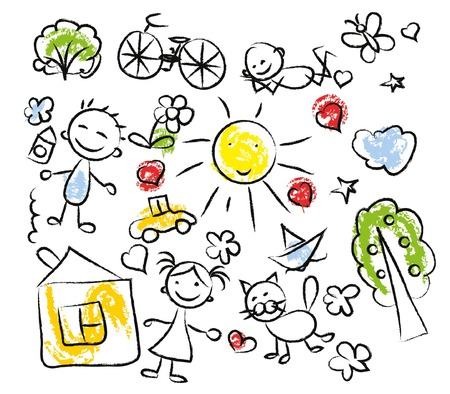 summer holiday: Children\ Illustration