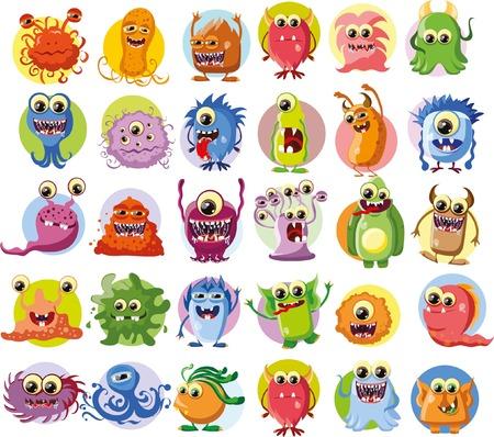 bacteria: Cartoon cute monsters and bacterias