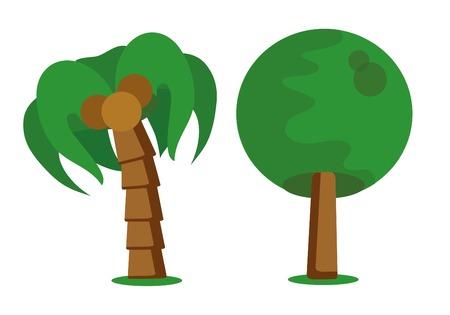 tree isolated: Cartoon tree icon