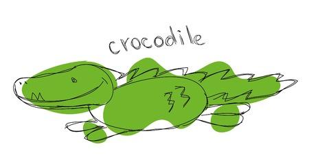 Children\'s drawing of crocodile