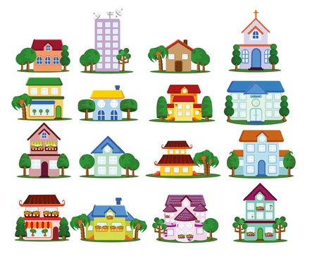 Vector house icons Ilustrace