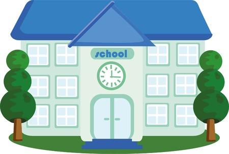 school house: Vector casa de la escuela icono