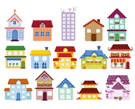 Achtergrond cartoon met huis