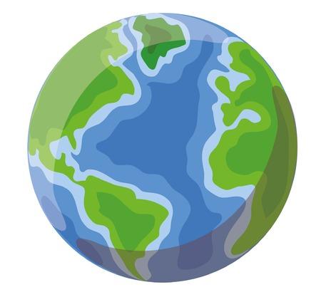 Cartoon globe  イラスト・ベクター素材