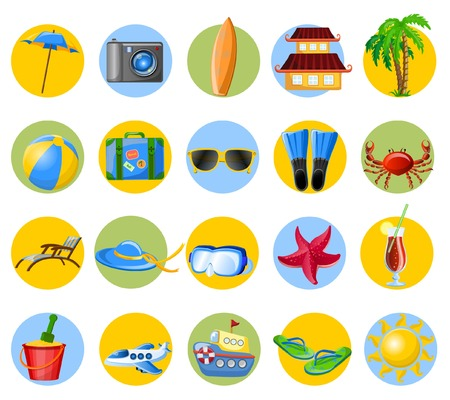 Travel cartoon icons