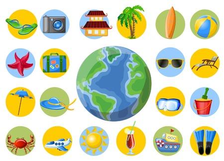 spanking: Travel web icons