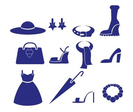 Vector icons of women\ Vector
