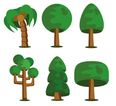 cartoon palm tree: Cartoon tree icon
