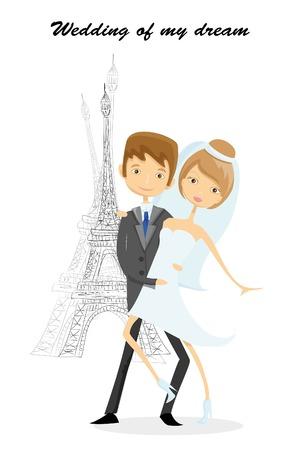 bid: Wedding background, bride and groom near the Bid Ben