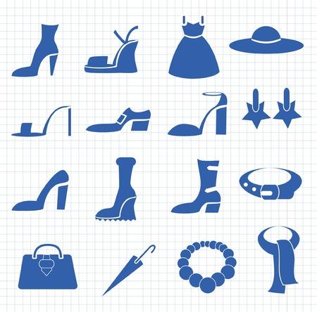 Vector icons of women\\\\