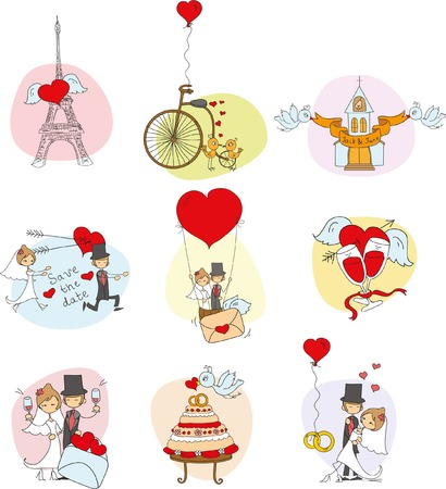 wedding veil: Doodle wedding set
