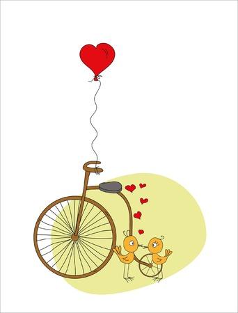 animal lover: Valentine or wedding doodle background Illustration