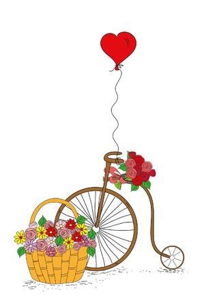 Doodle wedding or valentine background Иллюстрация