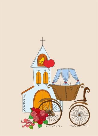 Doodle wedding background