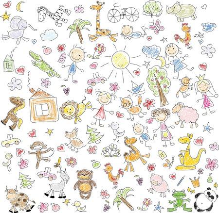 Enfants de dessin Banque d'images - 35570484