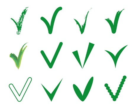 Vector set of twelve different green vector isolated